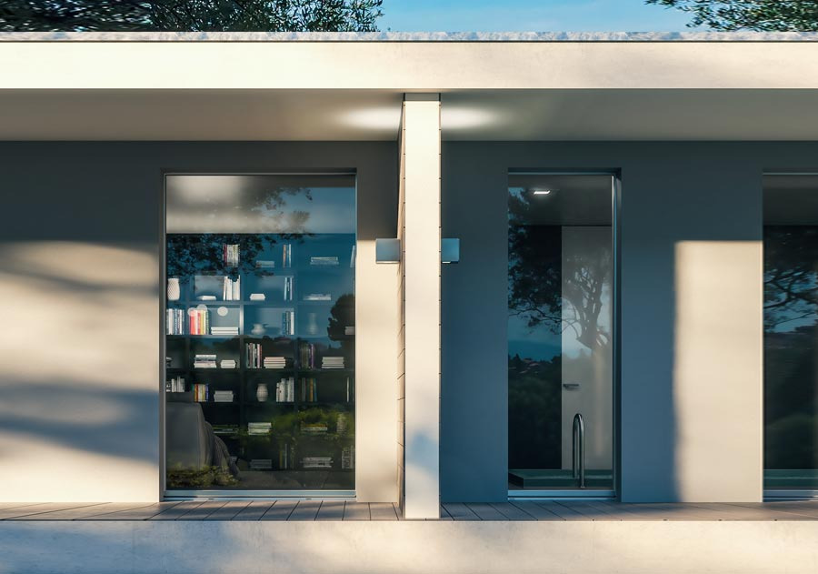 <strong>INVISIBLE</strong> | Single Leaf French Door | Exterior: Silver Aluminium