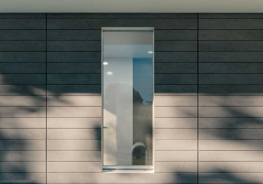 <strong>INVISIBLE</strong> | Window with Thermal Break Threshold | Exterior: Silver Aluminium