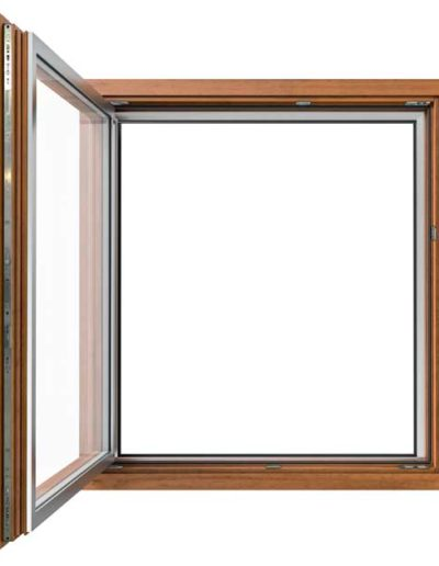 <strong>INVISIBLE</strong> | Single Leaf Window | Interior: Walnut Dyed Pine |  Exterior: Silver Aluminium