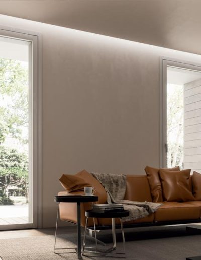 <strong>INVISIBLE</strong> | Single Leaf French Door | Interior: White