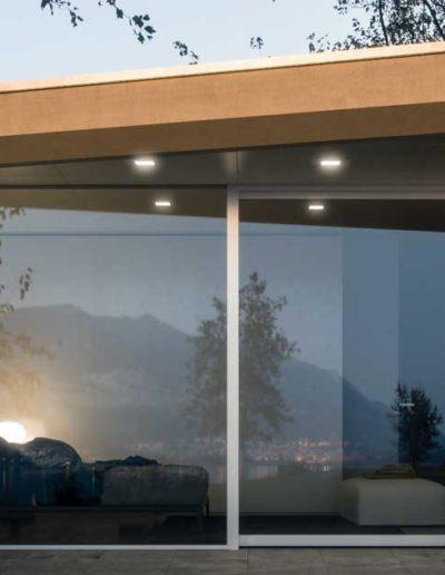 <strong>MINIMAL</strong> | Porte Fenêtre Coulissante Light | Extérieur: Aluminium Blanc