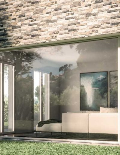 <strong>PLANAR</strong>   Single Leaf - Fixed Glass - Single Leaf French Door   Exterior: Silver Aluminium