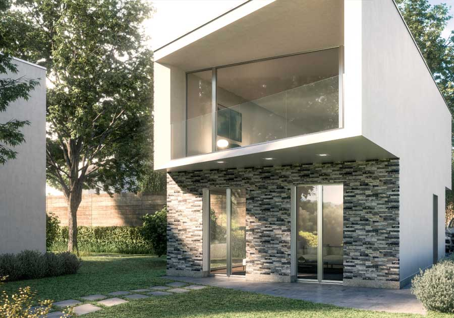 <strong>PLANAR</strong> | French Door | Exterior: Silver Aluminium Anodized