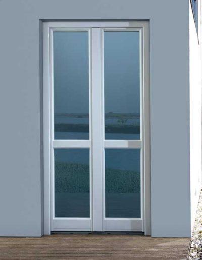 <strong>KLIMA+ L|A LEGNO ALLUMINIO</strong> | Porte Fenêtre | Extérieur: Aluminium Blanc