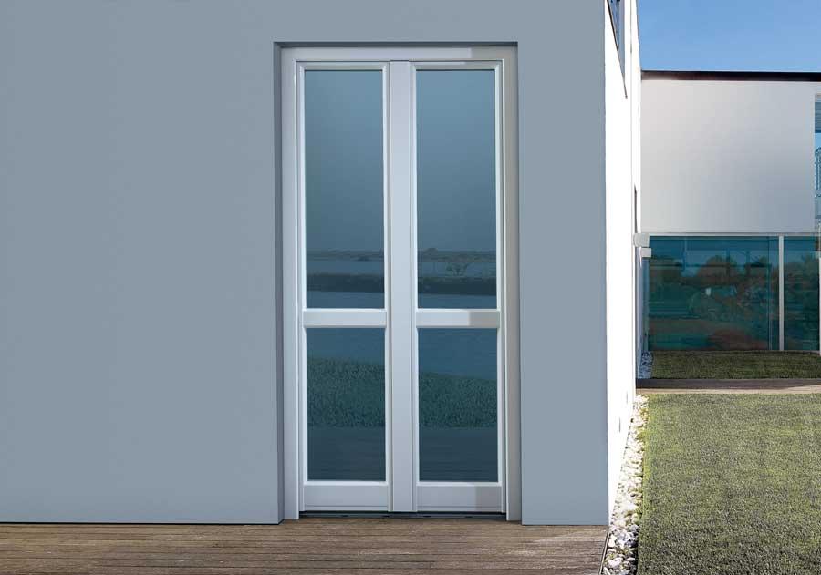 <strong>KLIMA+ L|A LEGNO ALLUMINIO</strong> | French Door | Exterior: White Aluminium