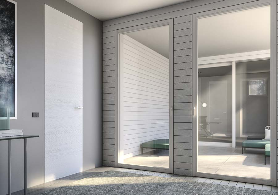 <strong>SLIM</strong> | Single Leaf French Door with Concealed Hinges | White Lacquered